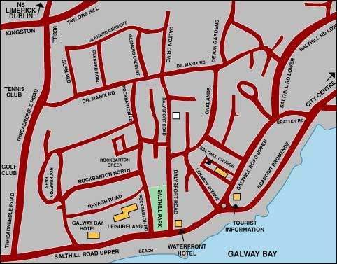 Maps Salthill Ireland Salthill Map Salthill Galway Maps Salthill Co